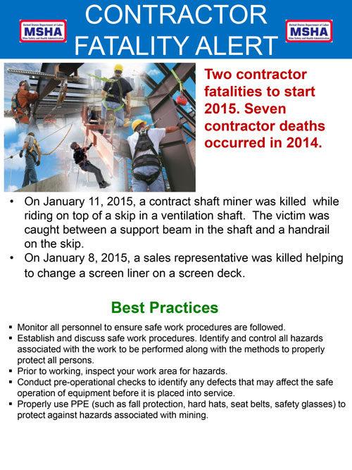contractor fatality alert
