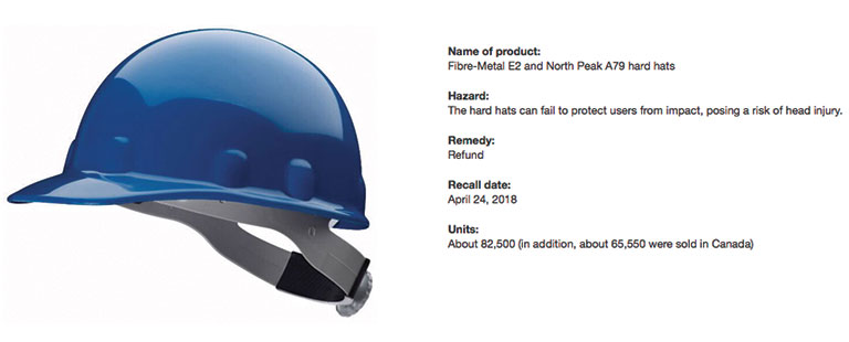 Honeywell Issues Hard Hat Recall 2018 05 15 Safety