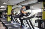 gym staff-sanitizing equipment