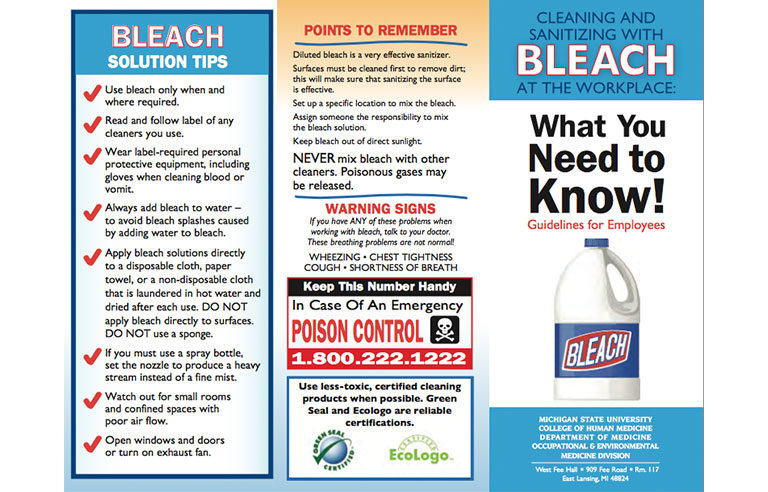Guide Offers Best Practices For Safely Using Bleach To