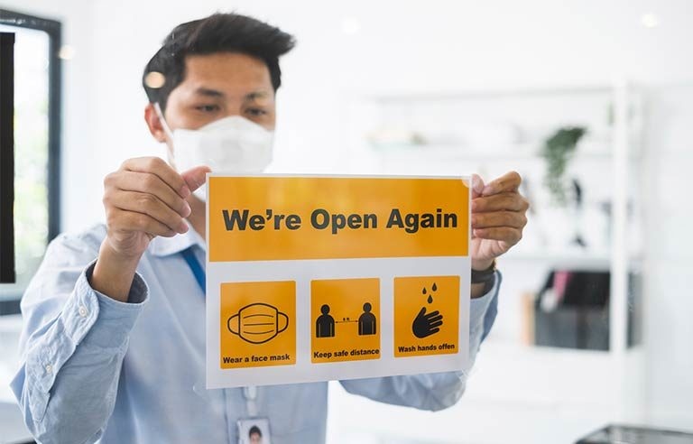 Open-again-sign