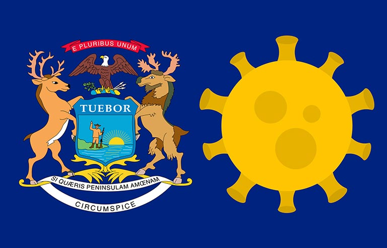 Michigan state flag