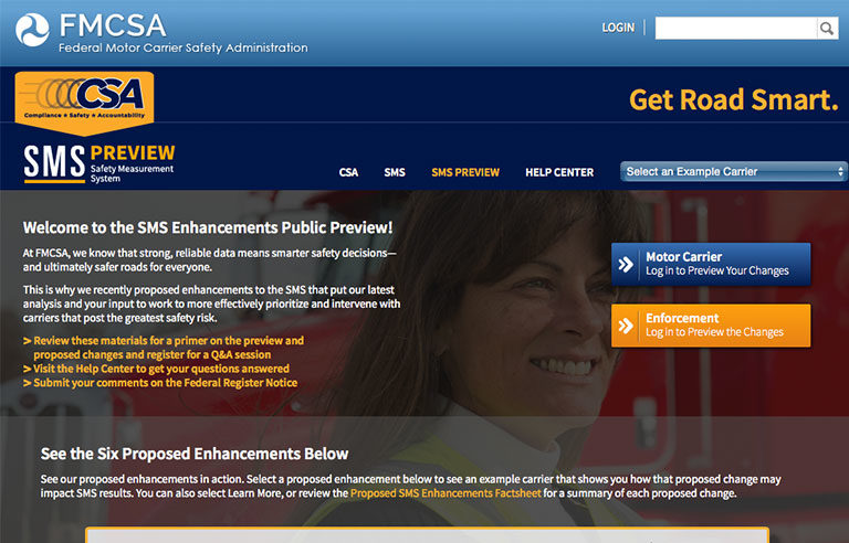 FMCSA homepage