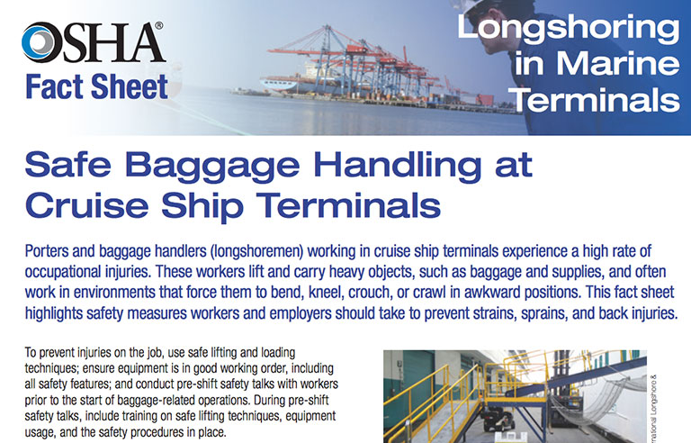 Osha Publishes Fact Sheet On Safe Baggage Handling At