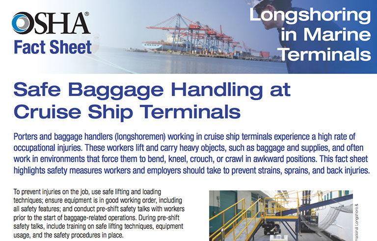 OSHA fact sheet longshoring
