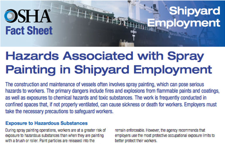Osha Releases Fact Sheet On Spray Painting In Shipyards