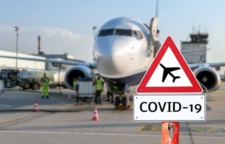 Airport covid warning