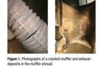 cracked muffler-exhaust rust