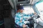 man driving semi