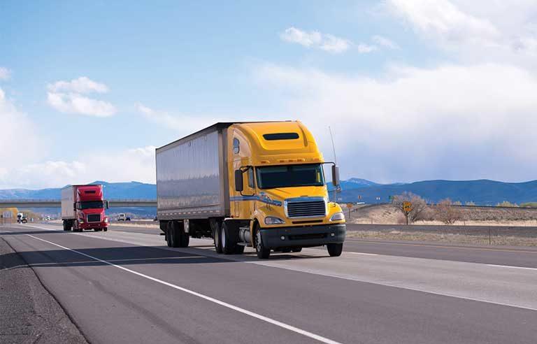 semis-on-highway