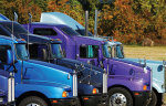 purple-blue trucks