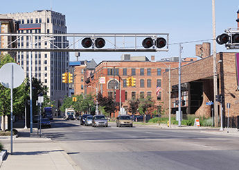 City railroad crossing