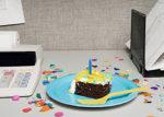 birthday cake - office desk