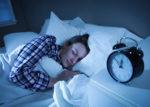 woman in flannel sleeping