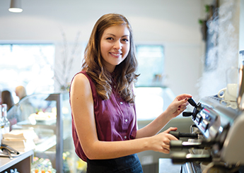 young worker barista