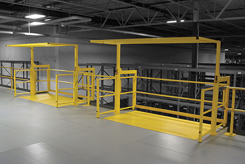 Mezzanine Pallet Gate : Pivot model mezzanine safety gate