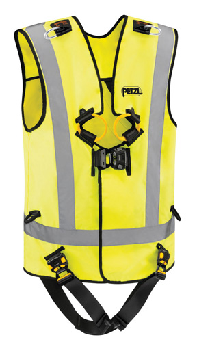 Fall arrest harness with high-visibility vest | 2017-06-25 | Safety+