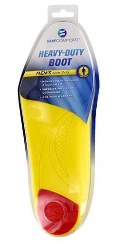 84007be031164 The Heavy-Duty Boot Insole is designed to deliver custom comfort throughout  the workday. Memory foam instantly forms to a worker's foot for a  personalized ...