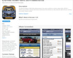NHSTA safer car app -- iTunes screen