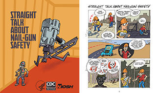 Nail gun safety comic
