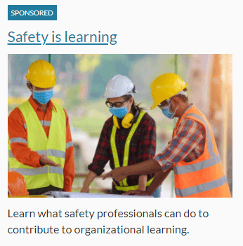 Safety is learning