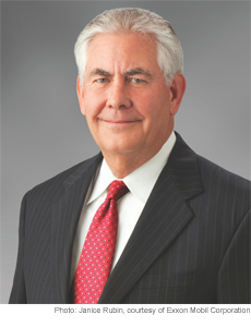 ExxonMobil Chairman and CEO Rex W. Tillerson.