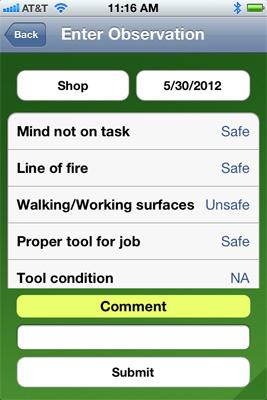 Safety observations